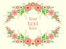 färgrik blom- ram Fotografering för Bildbyråer
