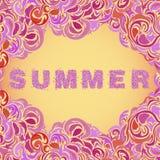 Färgrik blom- sommarbakgrund Vektor Illustrationer