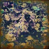 färgrik blom- tappning för konstbakgrund Arkivfoto