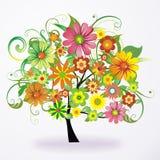 färgrik blom- tree Arkivbild