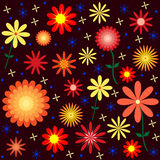 Färgrik blom- vektormodell Arkivfoton