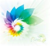 Färgrik blom- virvel Arkivbild
