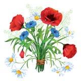 färgrik blomma för bukett Arkivbild