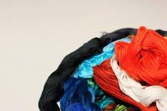 Färgrik blomma från den handgjorda tråden Arkivfoton