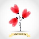 Färgrik blomma som isoleras på vit vektor illustrationer