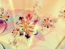 färgrik blommafractal för abstrakt bakgrund Royaltyfria Bilder