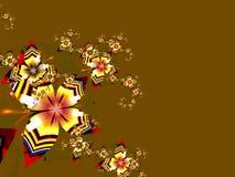 färgrik blommafractal för abstrakt bakgrund Arkivbild