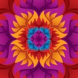 Färgrik blommakaleidoscope. Royaltyfri Fotografi