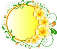 färgrik blommaram Royaltyfri Illustrationer