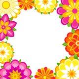 färgrik blommaram Fotografering för Bildbyråer