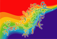 färgrik blommaregnbåge stock illustrationer