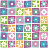Färgrik blommasamlingsmodell Royaltyfria Bilder