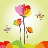 färgrik blommaspringtime för fjäril Royaltyfri Fotografi