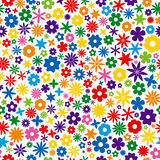 färgrik blommategelplatta Arkivbild