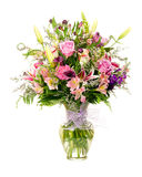 Färgrik blomsterhandlare-gjord blommaordning royaltyfri bild