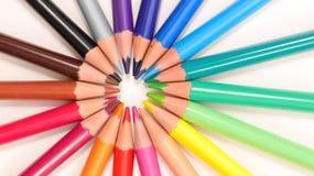 färgrik blyertspenna Arkivfoto