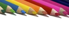 Färgrik blyertspenna Arkivbilder
