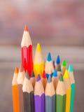 färgrik blyertspenna Royaltyfri Bild