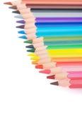 Färgrik blyertspennagräns Fotografering för Bildbyråer