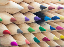 Färgrik blyertspennamakro Arkivfoto