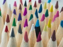 Färgrik blyertspennamakro Arkivbilder
