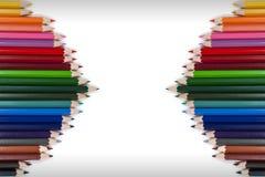Färgrik blyertspennaram 16 Arkivbild