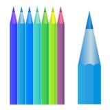 färgrik blyertspennaset Fotografering för Bildbyråer