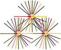 färgrik blyertspennasharpener Royaltyfri Foto