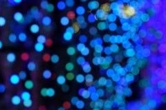 Färgrik bokeh av ljus bakgrund Arkivfoton