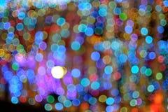 Färgrik bokeh av ljus bakgrund Royaltyfria Bilder