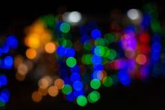 färgrik bokeh tänder bakgrund fotografering för bildbyråer
