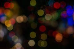 färgrik bokeh tänder bakgrund arkivfoton