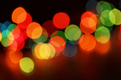 Färgrik bokehbakgrund Arkivfoto