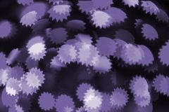Färgrik bokehultraviolet arkivbild