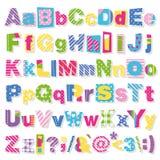 Färgrik bokstavssamling Arkivbilder