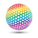 färgrik boll stock illustrationer