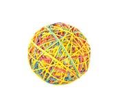 Färgrik boll av gummiband arkivbild