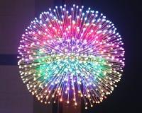 Färgrik boll med glödande ljus Royaltyfri Foto