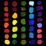 Färgrik borstefläck för vektor Royaltyfri Illustrationer