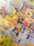 Färgrik borstemålning för abstrakt bakgrund Arkivfoton