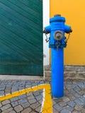 färgrik brandpost Arkivfoto