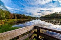 Färgrik Brazos krökning Lake. Royaltyfria Foton