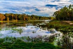Färgrik Brazos krökning Lake. Fotografering för Bildbyråer