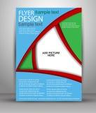 Färgrik broschyrvektordesign Royaltyfria Foton