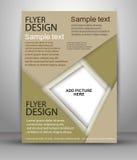Färgrik broschyrvektordesign Royaltyfria Bilder