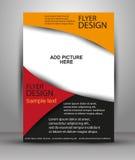 Färgrik broschyrvektordesign Reklambladmall för affär Fotografering för Bildbyråer