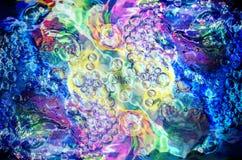 Färgrik bubblatextur Royaltyfri Foto