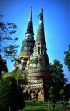 Färgrik Buddhastaty royaltyfria foton