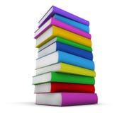 Färgrik bunt av böcker arkivfoto
