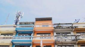 Färgrik byggnad i dagtid royaltyfria foton
